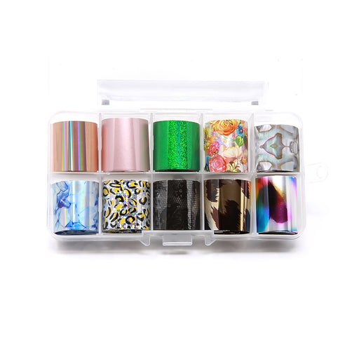 NCI Nail Art Transfer Foil, Small, Collection 10 OK0424VD