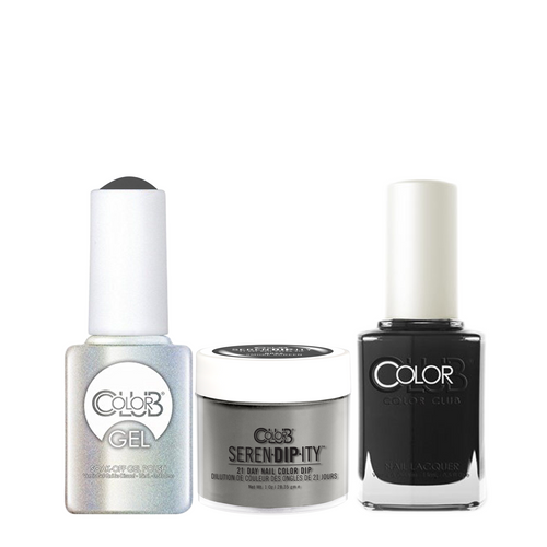 Color Club 3in1 Dipping Powder + Gel Polish + Nail Lacquer , Serendipity, Smoke Screen, 1oz, 05XDIPNRSS-1 KK