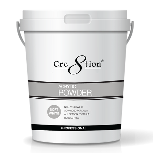 Cre8tion Acrylic Powder, Soft White, 25 lbs, 01447