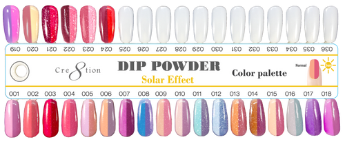 Cre8tion Sun Change Dipping Powder, Tips Sample