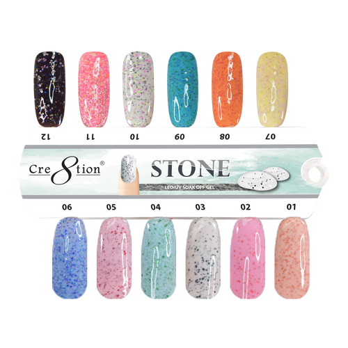 Cre8tion Stone Gel Polish, 0.5oz, Tips Sample