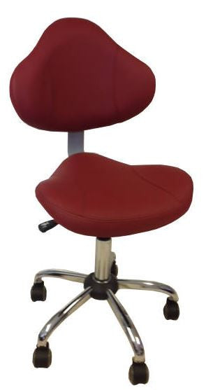 Cre8tion Technician Chair, Bright Burgundy, TC001BB (NOT Included Shipping Charge)