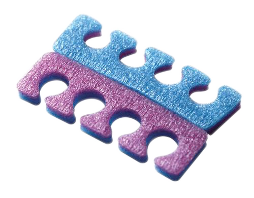 Cre8tion Toe Separators PE Foam, 4 Holes, 2 Tones, PACK, 10002 (Packing: 100 pcs/pack - 1,000 pairs/case)