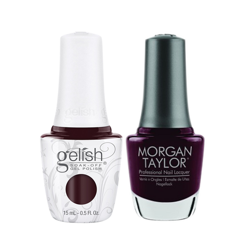 Gelish Gel Polish & Morgan Taylor Nail Lacquer 1, 1110328 + 3110328, Forever Fabulous Winter Collection 2018, The Camera Loves Me, 0.5oz KK1011