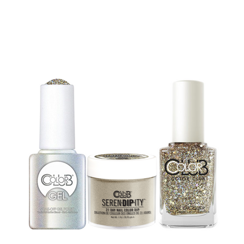 Color Club 3in1 Dipping Powder + Gel Polish + Nail Lacquer , Serendipity, Three Wishes, 1oz, 05XDIP1126-1 KK