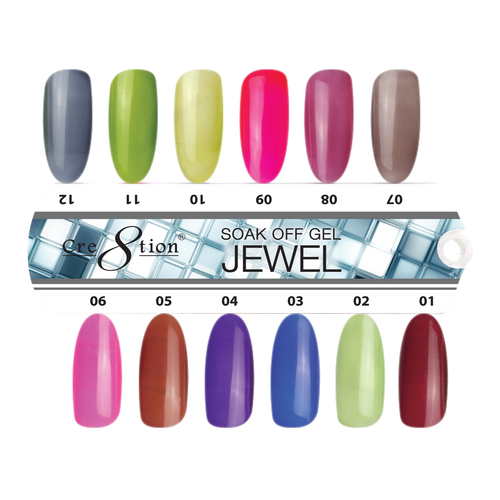 Cre8tion Jewel Gel, 0.5oz, Tips Sample