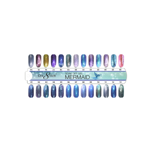Cre8tion Mermaid Gel Polish, 0.5oz, Tips Sample KK