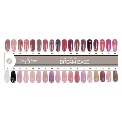 Cre8tion Dream Base Gel Polish, Full line of 36 color, 0.5oz