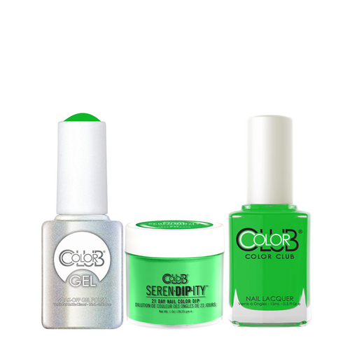 Color Club 3in1 Dipping Powder + Gel Polish + Nail Lacquer , Serendipity, Trees Please, 1oz, 05XDIPN45-1 KK
