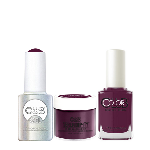 Color Club 3in1 Dipping Powder + Gel Polish + Nail Lacquer , Serendipity, Twice Bitten, 1oz, 05XDIP1128-1 KK