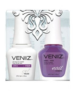 V025 - Veniiz Gel Polish + Nail Lacquer, Lotus, 0.5oz