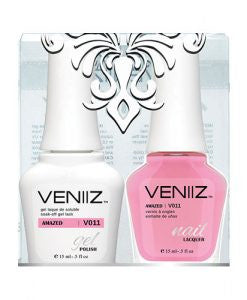 V011 - Veniiz Gel Polish + Nail Lacquer, Amazed, 0.5oz