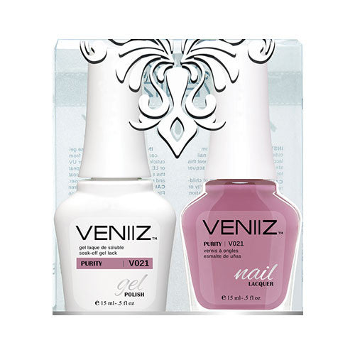 V021 - Veniiz Gel Polish + Nail Lacquer, Purity, 0.5oz