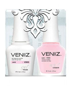 V003 - Veniiz Gel Polish + Nail Lacquer, Lace, 0.5oz