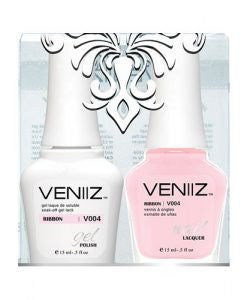 V004 - Veniiz Gel Polish + Nail Lacquer, Ribbon, 0.5oz