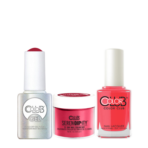 Color Club 3in1 Dipping Powder + Gel Polish + Nail Lacquer , Serendipity, Watermelon Candy Pink, 1oz, 05XDIP225-1 KK