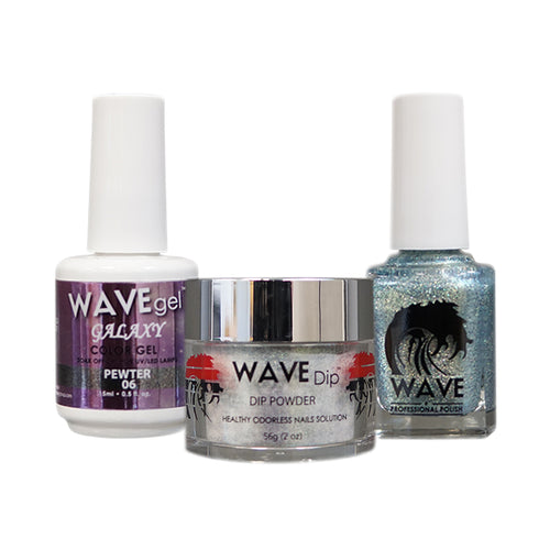 Wave Gel Dipping Powder + Gel Polish + Nail Lacquer, Galaxy Collection, 06 OK1129