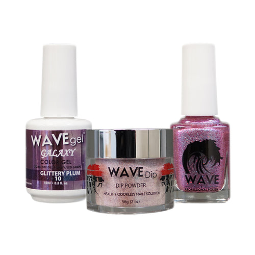 Wave Gel Dipping Powder + Gel Polish + Nail Lacquer, Galaxy Collection, 10 OK1129