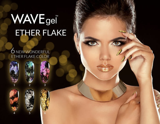 Wave Gel Ether Flake, 1g, Full line of 6 colors (Form 01 to 06) OK1129