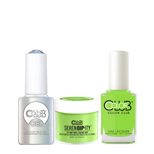 Color Club 3in1 Dipping Powder + Gel Polish + Nail Lacquer , Serendipity, We Liming, 1oz, 05XDIPN44-1 KK