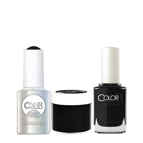 Color Club 3in1 Dipping Powder + Gel Polish + Nail Lacquer , Serendipity, Where's the Soiree, 1oz, 05XDIP854-1 KK