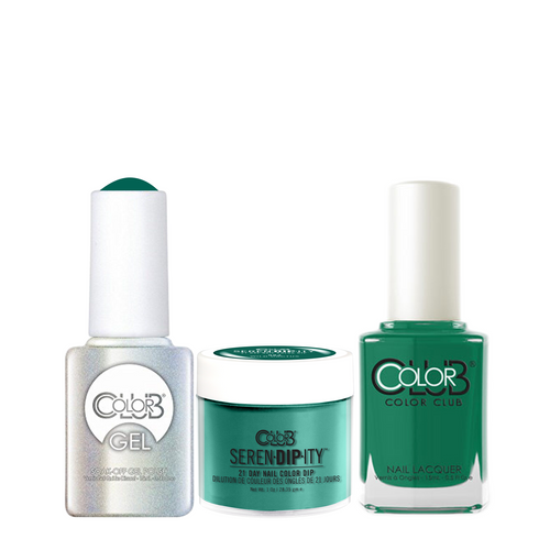 Color Club 3in1 Dipping Powder + Gel Polish + Nail Lacquer , Serendipity, Wild Cactus, 1oz, 05XDIP984-1 KK