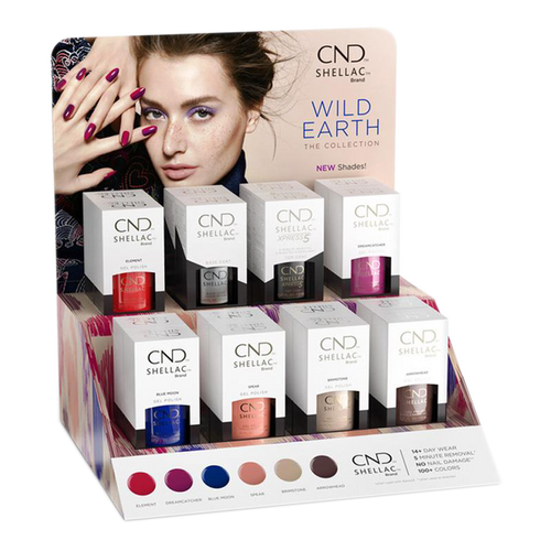 CND Shellac Gel, Wild Earth Collection, Full line of 6 colors