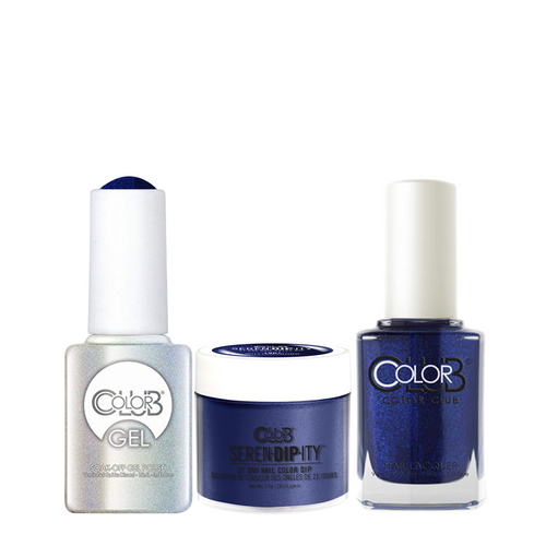 Color Club 3in1 Dipping Powder + Gel Polish + Nail Lacquer , Serendipity, Williamsburg, 1oz, 05XDIP1001-1 KK