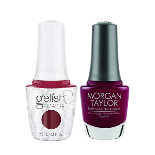Gelish Gel Polish & Morgan Taylor Nail Lacquer 1, 1110329 + 3110329, Forever Fabulous Winter Collection 2018, Wish Upon A Starlet, 0.5oz KK1011