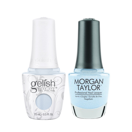 Gelish Gel Polish & Morgan Taylor Nail Lacquer 1, 1110338 + 3110338, Forever Fabulous Winter Collection 2018, Wrapped In Satin, 0.5oz KK1011