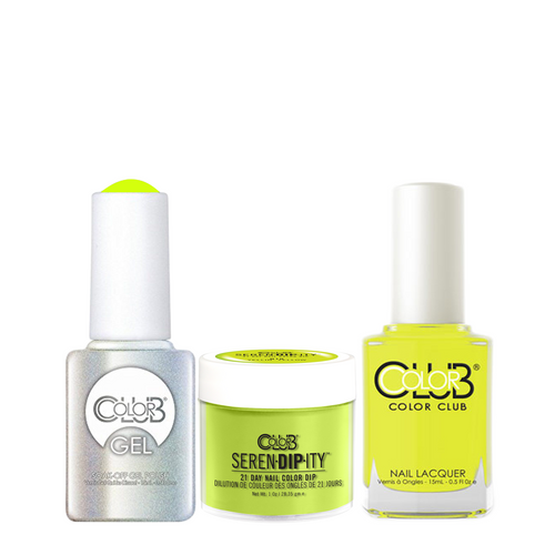 Color Club 3in1 Dipping Powder + Gel Polish + Nail Lacquer , Serendipity, Yellin' Yellow, 1oz, 05XDIPN10-1 KK