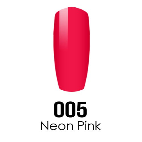 DC Nail Lacquer And Gel Polish (New DND), DC005, Neon Pink, 0.6oz KK1211