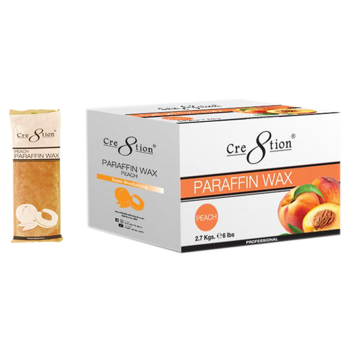 Cre8tion Paraffin Wax, Peach, BOX of 6 packs, 6lbs/box 18018 KK1010