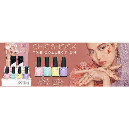 CND Vinylux 2, Chic Shock The Collection, Full line of 4 colors (from V273 to V277, Price: $3.95/pc)