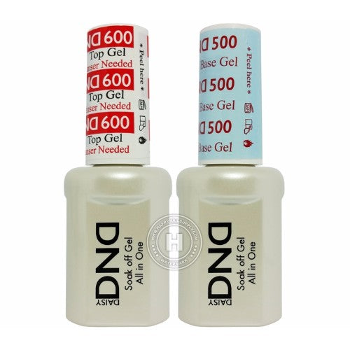 DND Base 500 & No Wipe Top NON-CLEANSING 600, 0.5oz KK1226