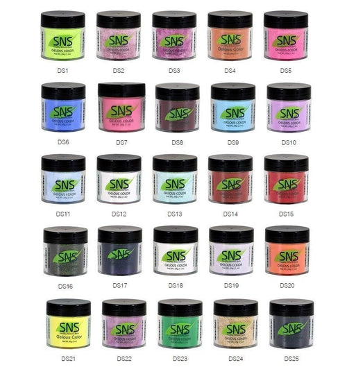 SNS Gelous Dipping Powder, Designer Series Collection, 1oz, Full Line Of 25 Colors (from DS01 to DS25, Price: $11.96/pc) Pro