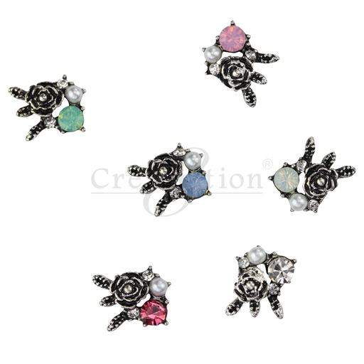 Cre8tion Nail Art Charms, Black, E01