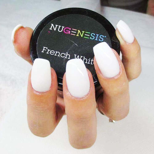 Nugenesis Dipping Powder, Pink & Whites, French White, 2oz KK1009