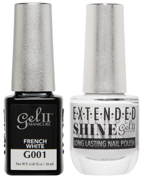 Gel II Manicure And Extended Shine, G001, French White, 0.47oz KK
