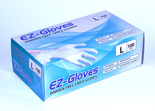 EZ-Gloves, Powder-Free Latex Gloves, Size L
