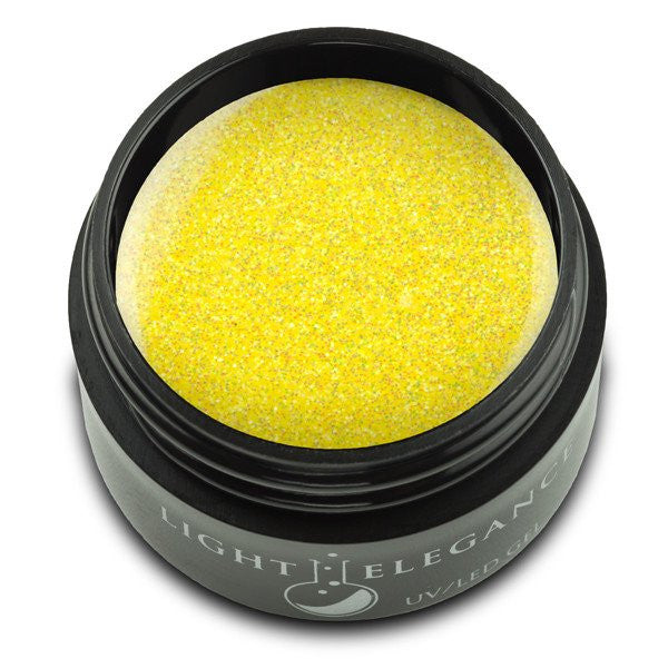 Light Elegance, UV/LED Glitter Gel, G830E, Lemon Burst, 17ml KK