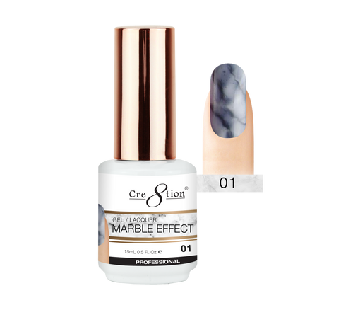 Cre8tion Marble Effect Gel / Lacquer, 01, 0.5oz, 0916-2062 KK1204