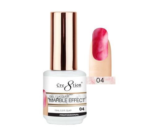 Cre8tion Marble Effect Gel / Lacquer, 04, 0.5oz, 0916-2065 KK1009