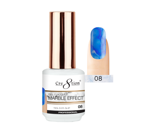 Cre8tion Marble Effect Gel / Lacquer, 08, 0.5oz, 0916-2069 KK1009