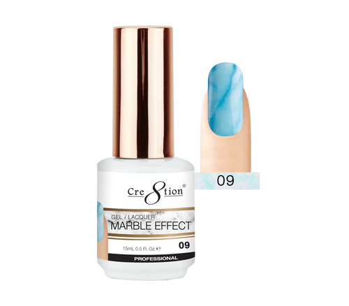 Cre8tion Marble Effect Gel / Lacquer, 09, 0.5oz, 0916-2070 KK1009