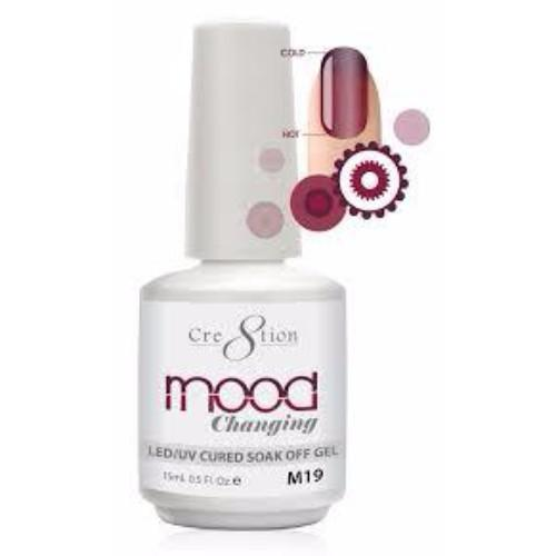 Cre8tion Mood Changing Gel Polish, Color List in Note, 0.5oz, 000
