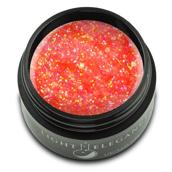 Light Elegance, UV/LED Glitter Gel, G956E, Mango Crush, 17ml KK