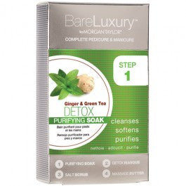 Bare Luxury Complete Pedicure & Manicure 4 Steps By Morgan Taylor, Detox Ginger & Green Tea, 51319