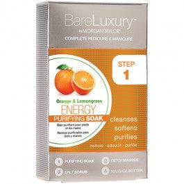 Bare Luxury Complete Pedicure & Manicure 4 Steps By Morgan Taylor, Energy Orange & Lemongrass, 51318