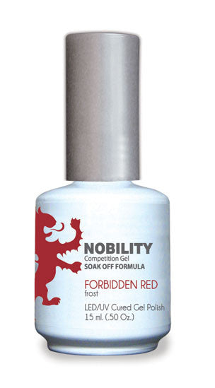 LeChat Nobility Gel, NBGP013, Forbidden Red, 0.5oz